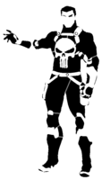 bridged layer 4 of stencil of The Punisher