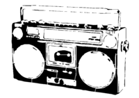 bridged layer 2 of stencil of Boombox