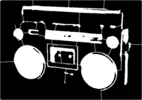 bridged layer 1 of stencil of Boombox