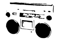 bridged layer 3 of stencil of Boombox