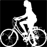 bridged layer 1 of stencil of Bicycle