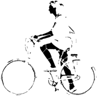 bridged layer 3 of stencil of Bicycle