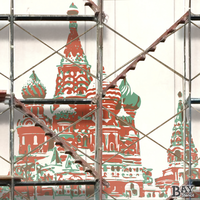 painted stencil art of The Kremlin