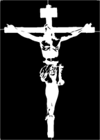 bridged layer 1 of stencil of Crucifix