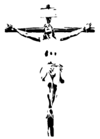 bridged layer 3 of stencil of Crucifix