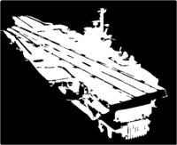 bridged layer 1 of stencil of Aircraft Carrier