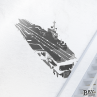 painted stencil art of Aircraft Carrier