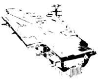 bridged layer 2 of stencil of Aircraft Carrier