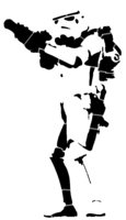 bridged layer 3 of stencil of Stormtrooper