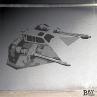 simulated stencil painting of Snow Speeder