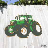 painted stencil art of Tractor