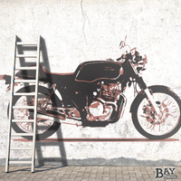 simulated stencil painting of Tourist Trophy