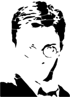bridged layer 4 of stencil of Harry Potter