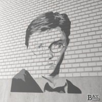 painted stencil art of Harry Potter