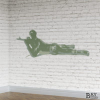 painted stencil art of Sharpshooter