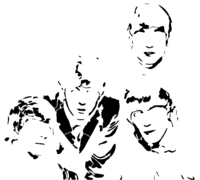bridged layer 2 of stencil of The Beatles