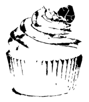 bridged layer 2 of stencil of Cupcake