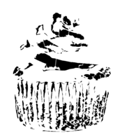 bridged layer 4 of stencil of Cupcake