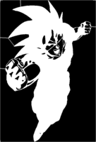 bridged layer 1 of stencil of Goku