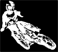 bridged layer 1 of stencil of Motorcycle Rider