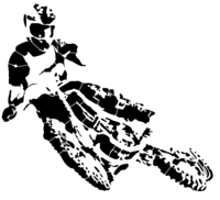 bridged layer 3 of stencil of Motorcycle Rider