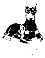 bridged layer 5 of stencil of Doberman