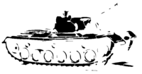 bridged layer 2 of stencil of Army Tank