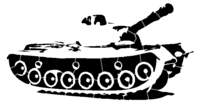 bridged layer 3 of stencil of Army Tank