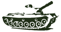 unbridged layer 3 of stencil of Army Tank