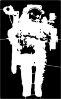 bridged layer 3 of stencil of Astronaut