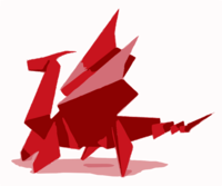 stencil of Origami Dragon
