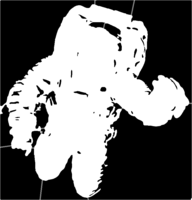bridged layer 1 of stencil of Spacesuit