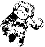 bridged layer 2 of stencil of Spacesuit