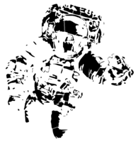 bridged layer 3 of stencil of Spacesuit