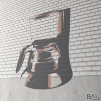 painted stencil art of Coffee Maker