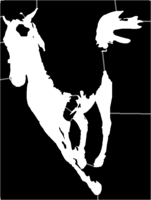 bridged layer 1 of stencil of White Horse