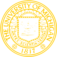 unbridged layer 2 of stencil of University of Michigan Seal
