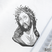 painted stencil art of Crown of Thorns