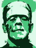 stencil of Frankenstein