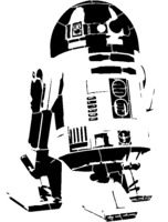 bridged layer 2 of stencil of R2-D2