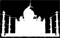 bridged layer 1 of stencil of Taj Mahal