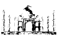 bridged layer 2 of stencil of Taj Mahal