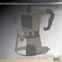 simulated stencil painting of Moka