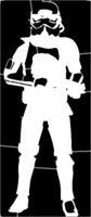 bridged layer 1 of stencil of Stormtrooper
