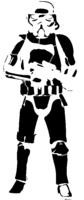 bridged layer 2 of stencil of Stormtrooper