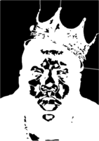bridged layer 4 of stencil of Biggie Smalls
