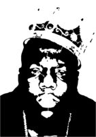 bridged layer 5 of stencil of Biggie Smalls