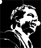 bridged layer 5 of stencil of Pete Buttigieg