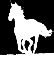 bridged layer 1 of stencil of Black Horse