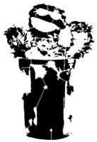 bridged layer 2 of stencil of Oscar the Grouch